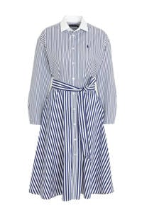 POLO Ralph Lauren gestreepte blousejurk blauw/wit, Blauw/wit