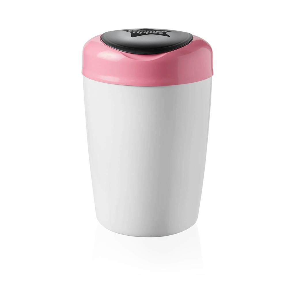 Tommee Tippee Simplee Sangenic luieremmer wit/roze, Wit/rosé