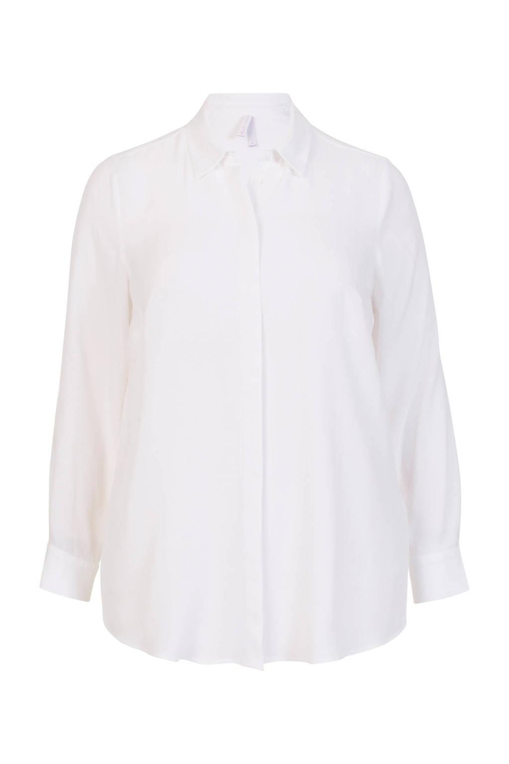 Miss Etam Plus blouse wit, Wit