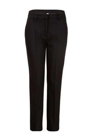 Regulier straight fit pantalon zwart