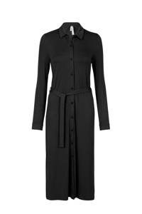 Miss Etam Regulier blousejurk met ceintuur zwart, Zwart