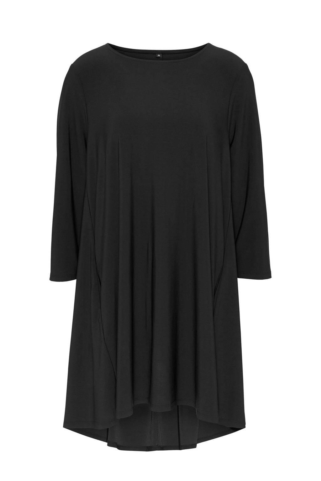 Didi jersey jurk zwart, Zwart