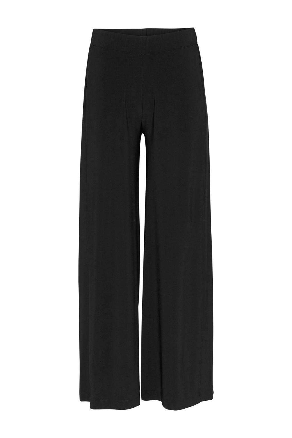 Didi high waist palazzo broek zwart, Zwart