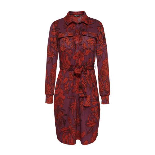 Didi gebloemde blousejurk rood paars