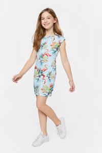 WE Fashion T-shirtjurk met all over print lichtblauw, Lichtblauw