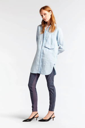 linnen blouse lichtblauw