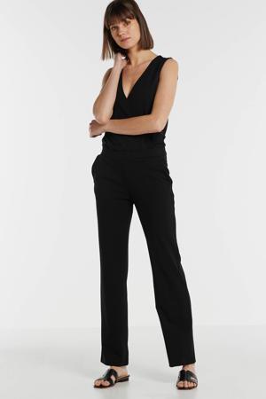 jumpsuit met overslag detail zwart