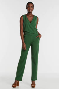 anytime jumpsuit met overslag detail groen, Groen