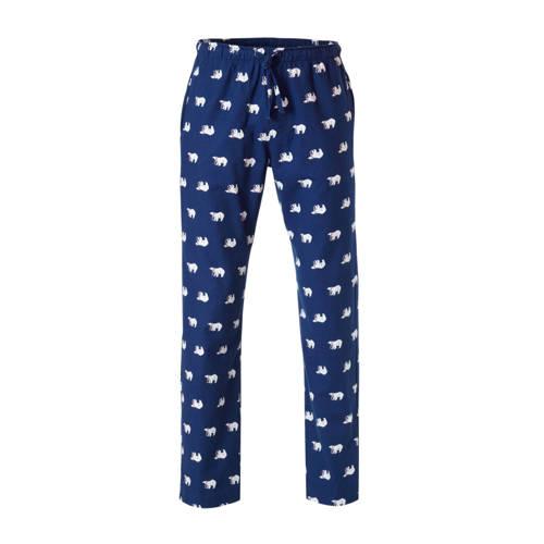 GAP flanellen pyjamabroek met ijsberen print blauw