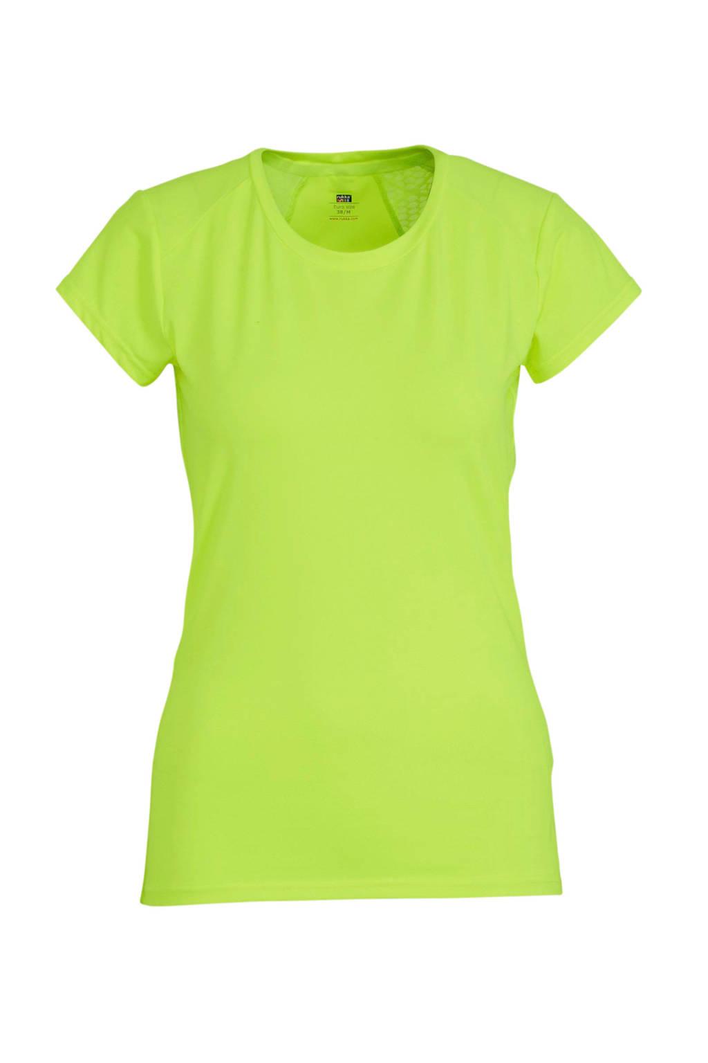 Rukka hardloopshirt neon geel, Neon geel