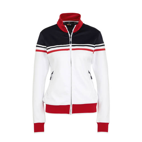 Rukka sportvest wit/donkerblauw/rood