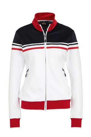 sportvest wit/donkerblauw/rood