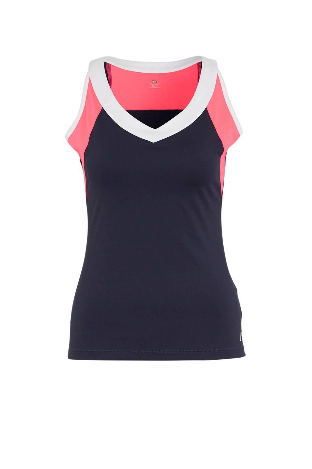Rukka sporttop donkerblauw/roze, Donkerblauw/roze
