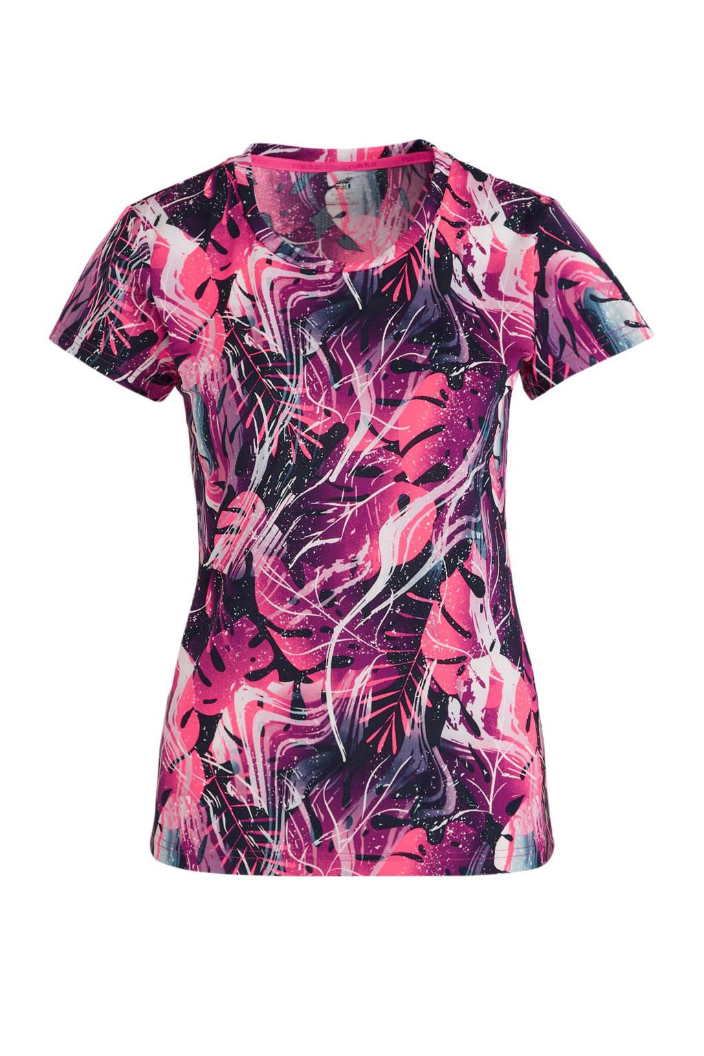 Rukka hardloopshirt roze/grijs, Roze/grijs