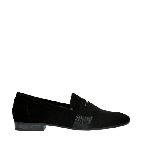 Manfield su??de loafers zwart