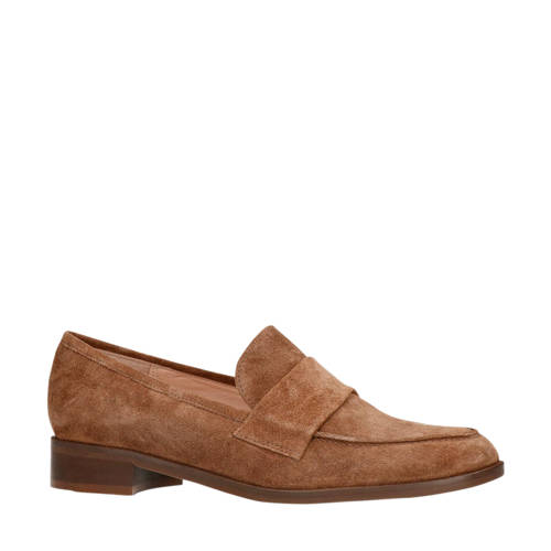 Manfield su??de loafers bruin
