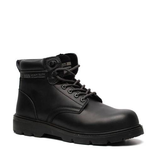 Scapino Safety Jogger leren werkschoenen zwart