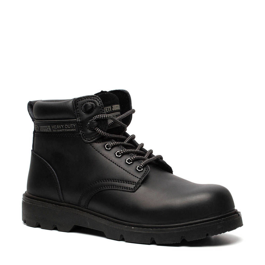 Scapino Safety Jogger   leren werkschoenen zwart, Zwart