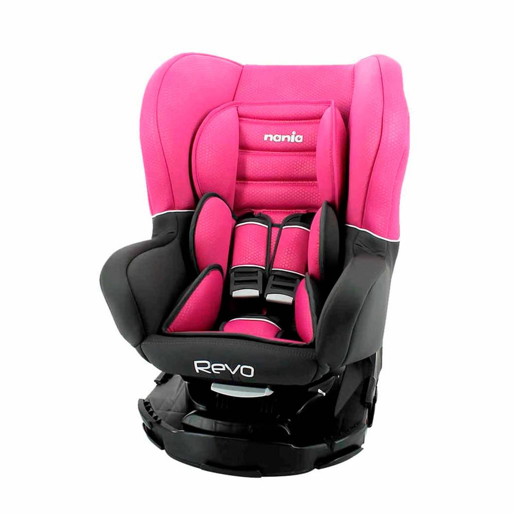 Nania Revo luxe autostoel roze, Donkergrijs/roze