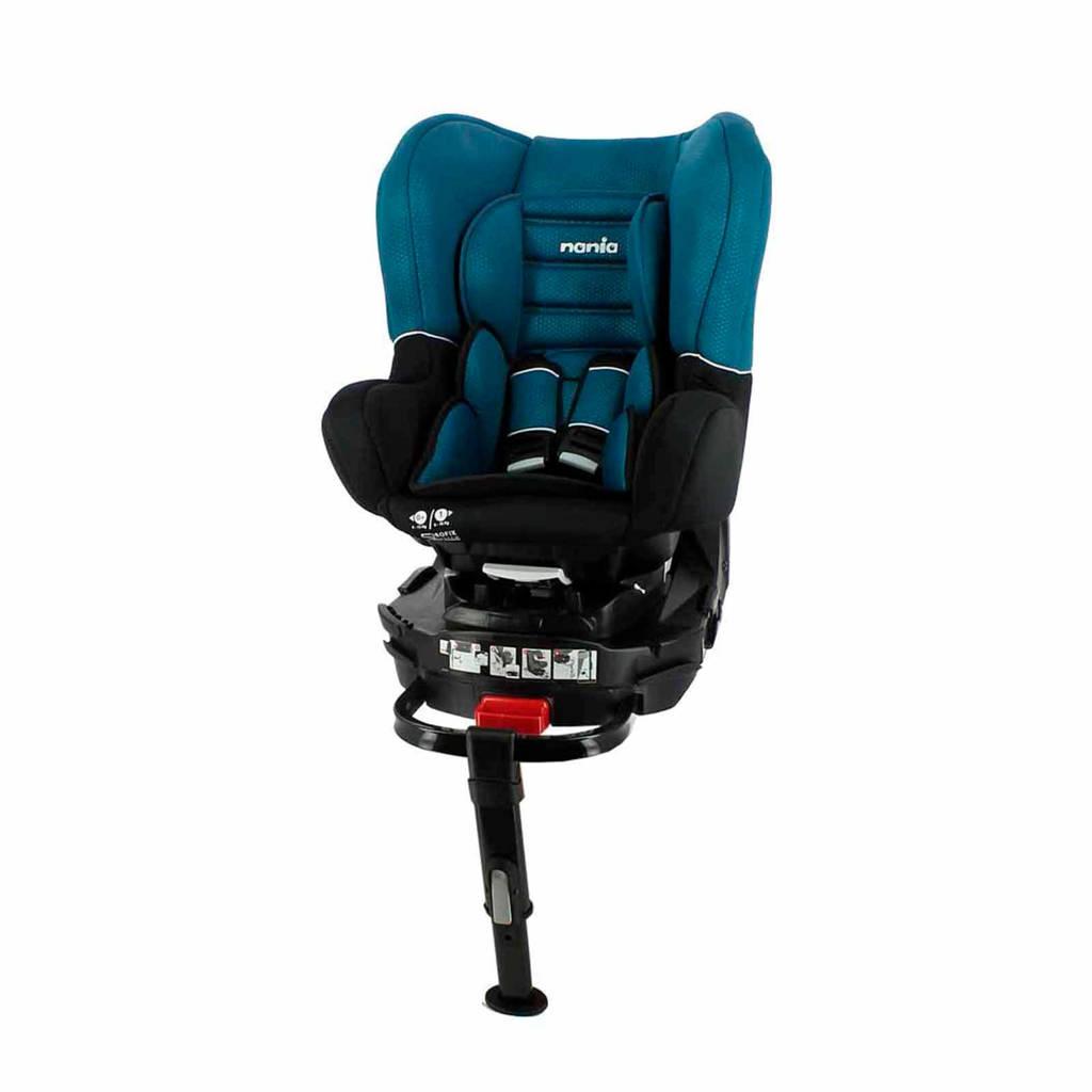 Nania Revo Isofix Leg Support autostoel blauw, Zwart/blauw