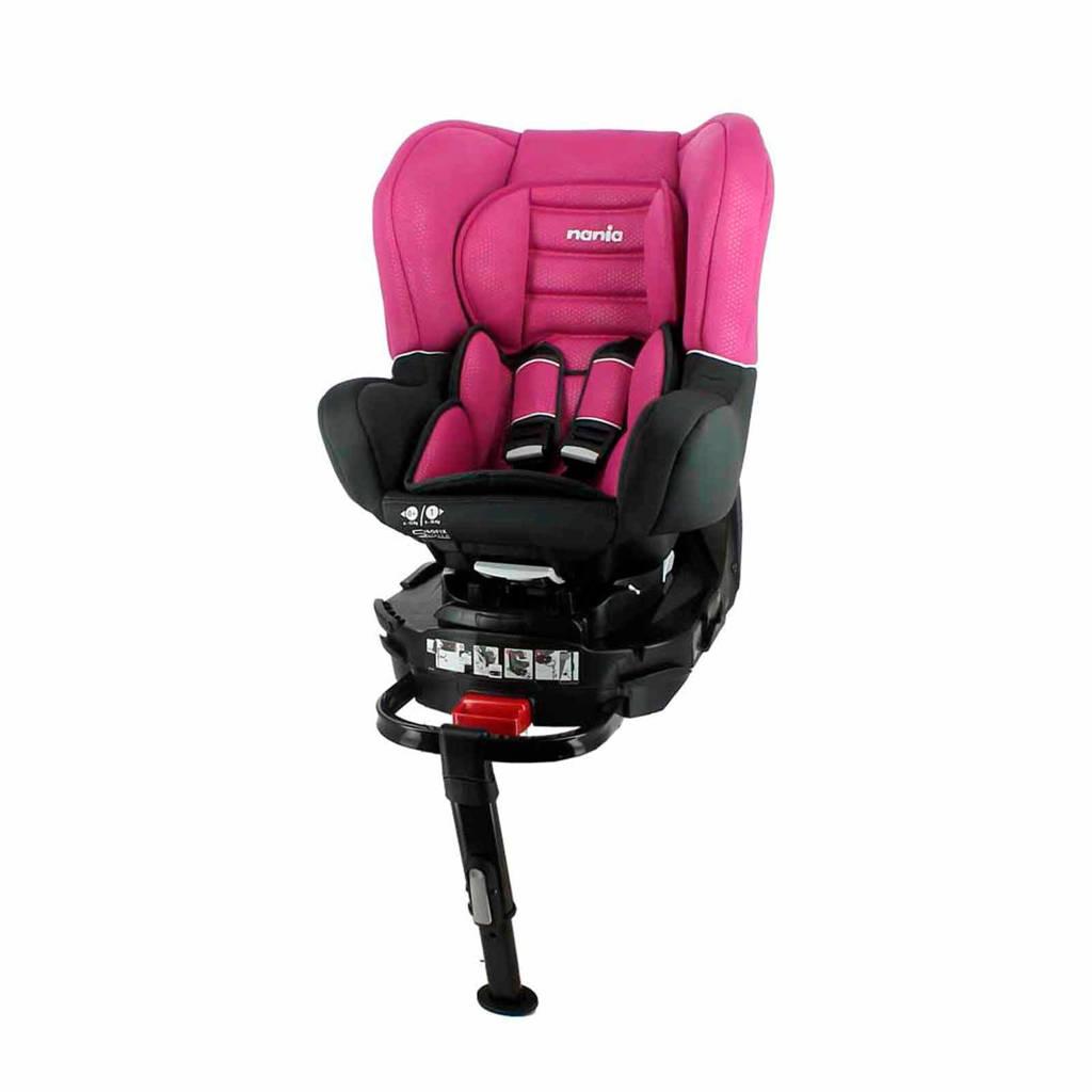 Nania Revo Isofix Leg Support autostoel roze, Donkergrijs/roze