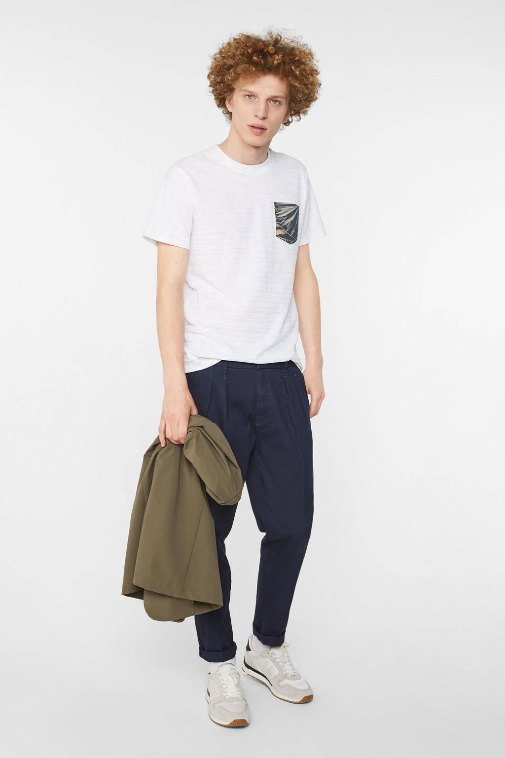 WE Fashion T-shirt met printopdruk white uni, White Uni