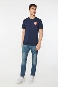WE Fashion Blue Ridge slim fit jeans green cast denim, Green Cast Denim