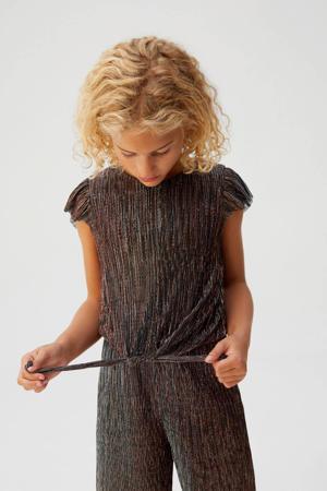 jumpsuit met streepdessin zwart
