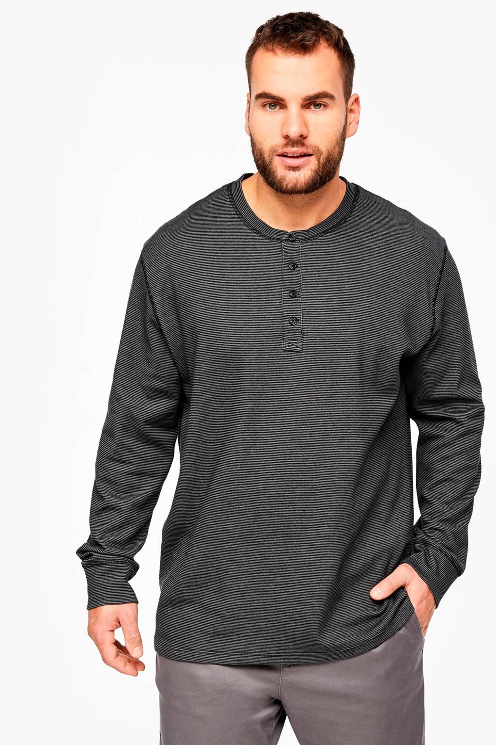 s.Oliver Big Size gestreept T-shirt zwart/grijs Big size, Zwart/grijs