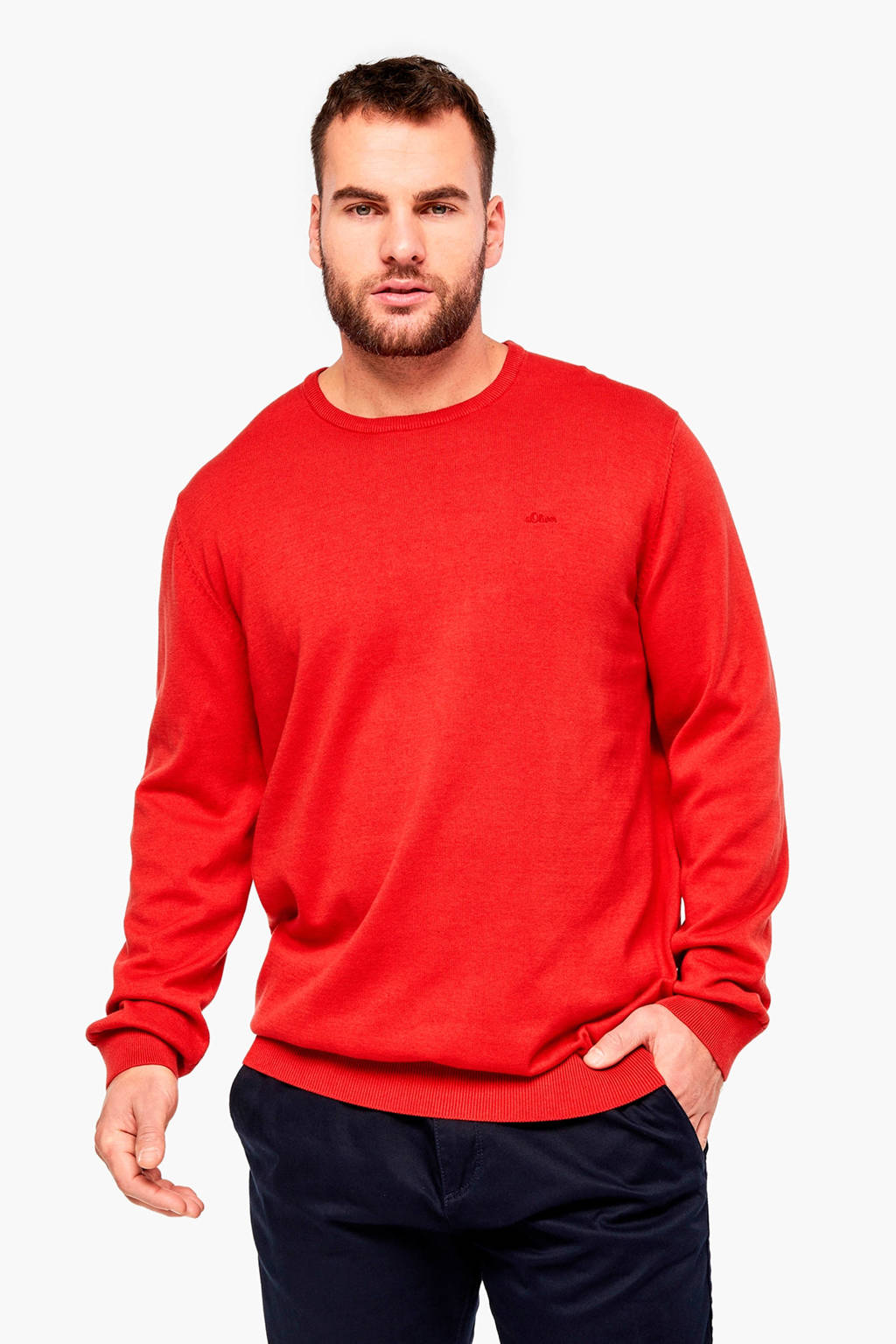 s.Oliver Big Size trui rood, Rood