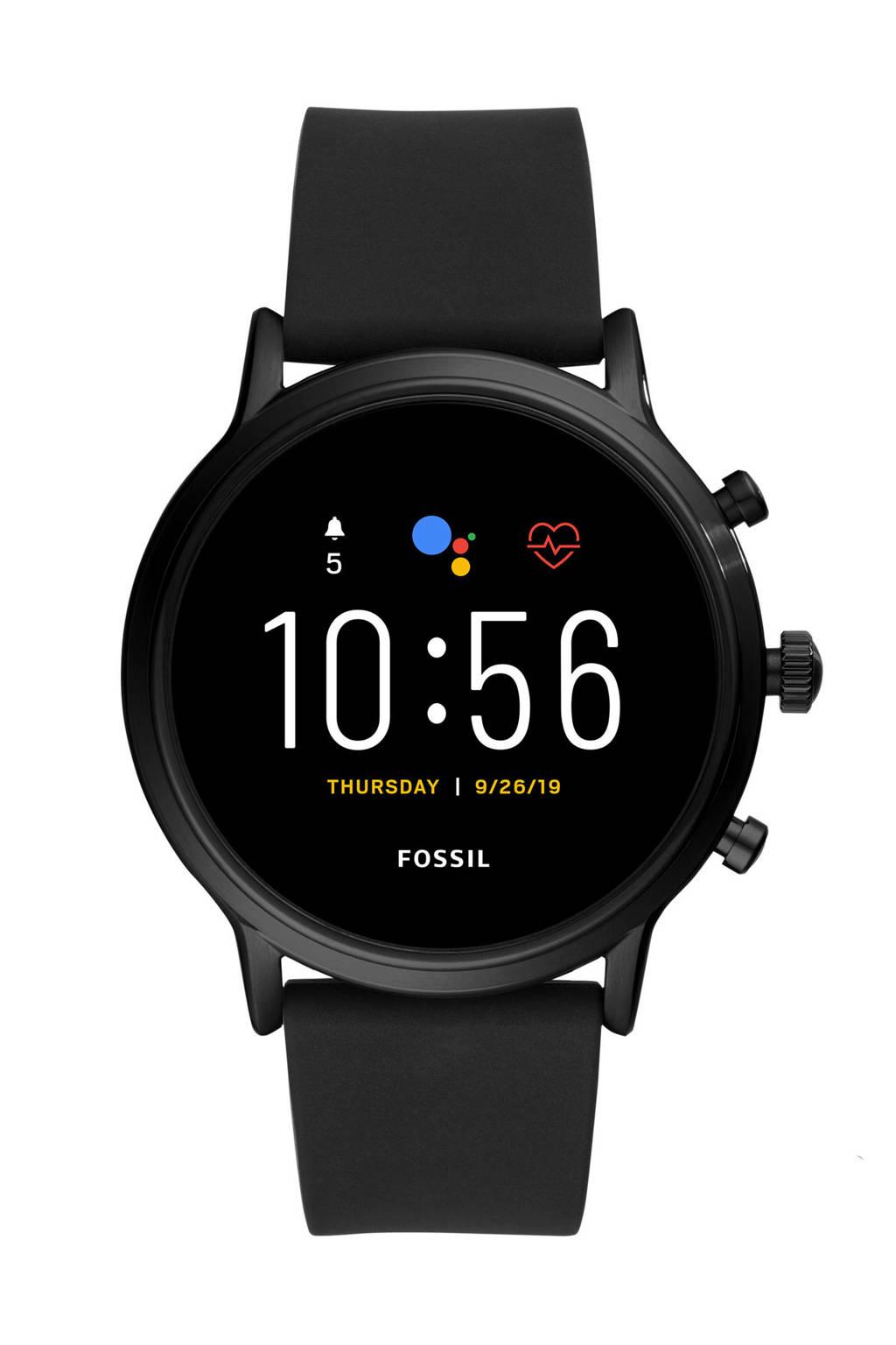 Fossil Carlyle HR Gen 5 Heren Display Smartwatch FTW4025, Zwart/Zwart
