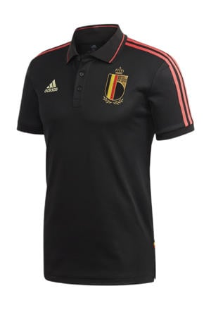 Senior België voetbalpolo zwart/rood