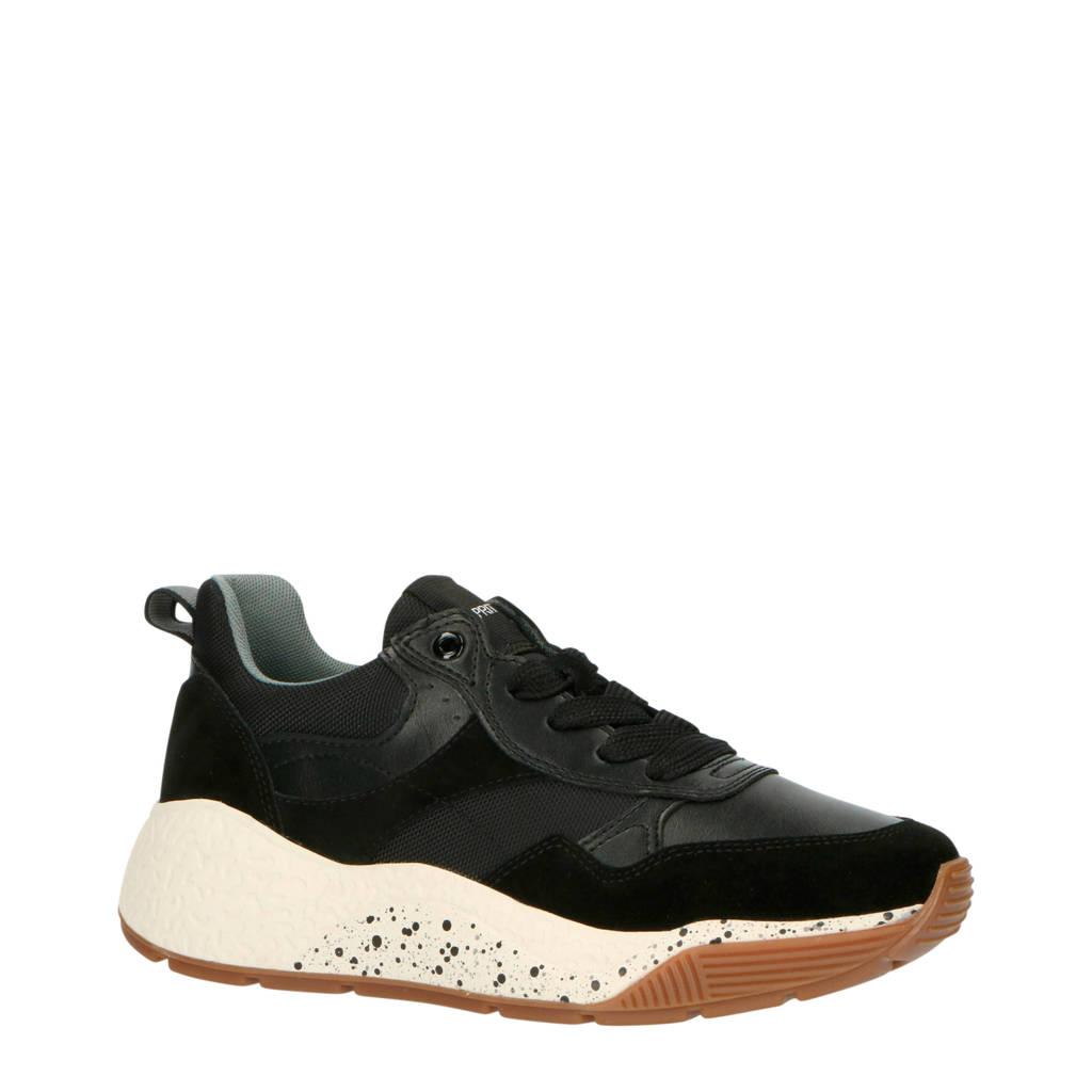 ESPRIT   chunky dad sneakers zwart, Zwart