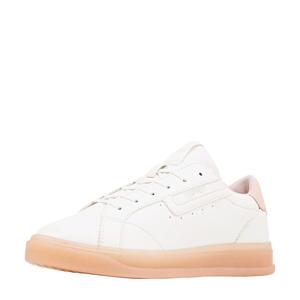 sneakers wit/pastelroze