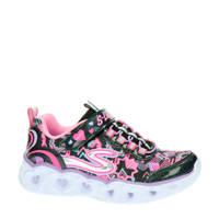 Skechers S-Lights  sneakers met lichtjes zwart/roze, Zwart/roze
