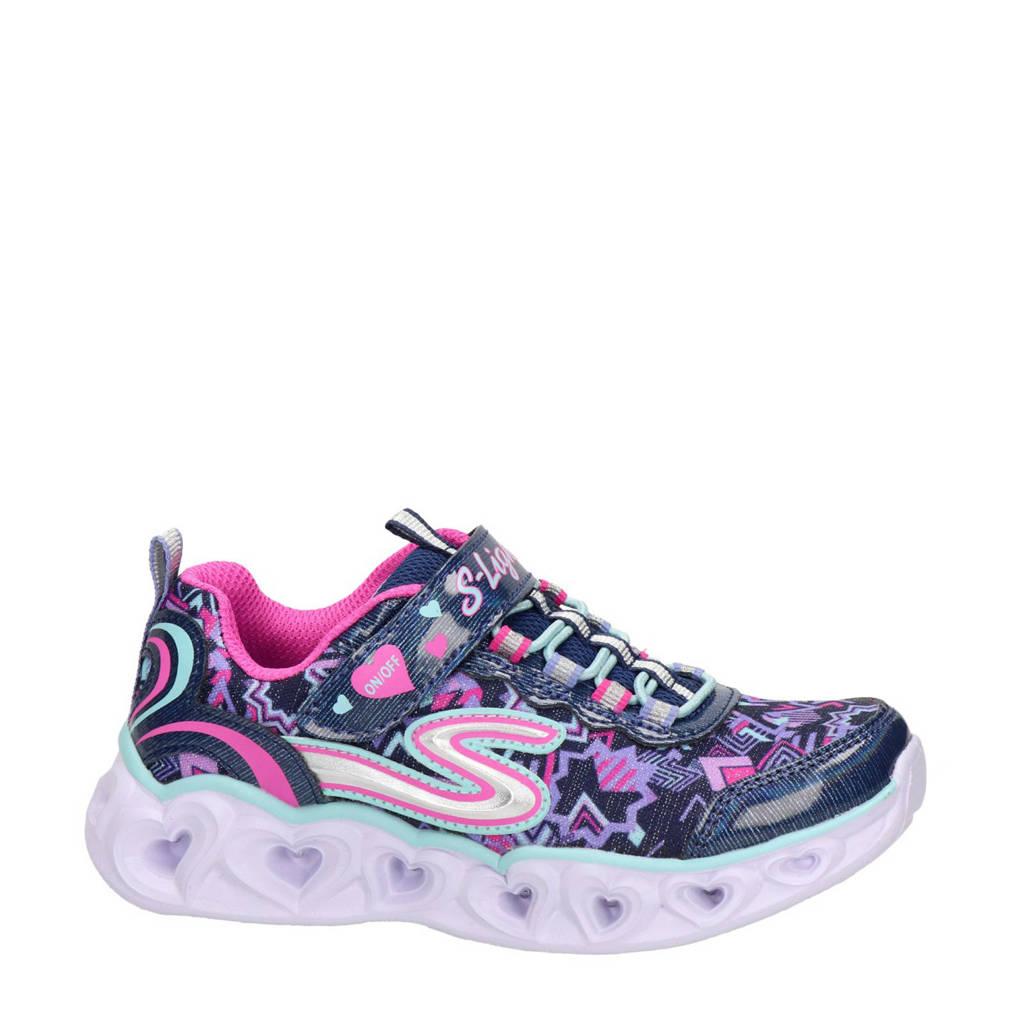 Skechers S-Lights  sneakers met lichtjes blauw, Blauw/roze