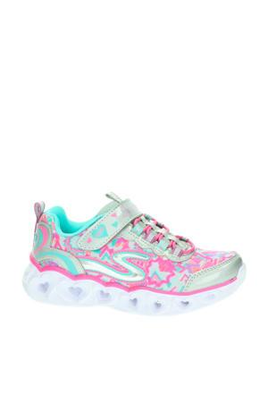 S-Lights  sneakers met lichtjes mintgroen