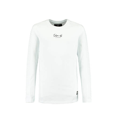 CoolCat Junior longsleeve Louis met tekst en ribbe