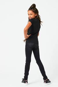 CoolCat Junior T-shirt Eline met printopdruk zwart, Zwart