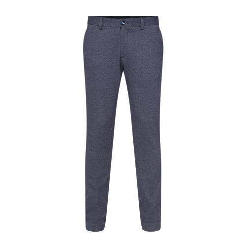 WE Fashion slim fit pantalon royal navy melange