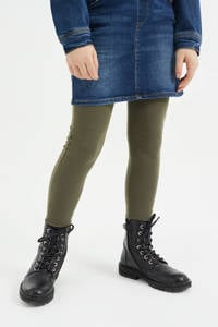 WE Fashion legging army groen, Army groen
