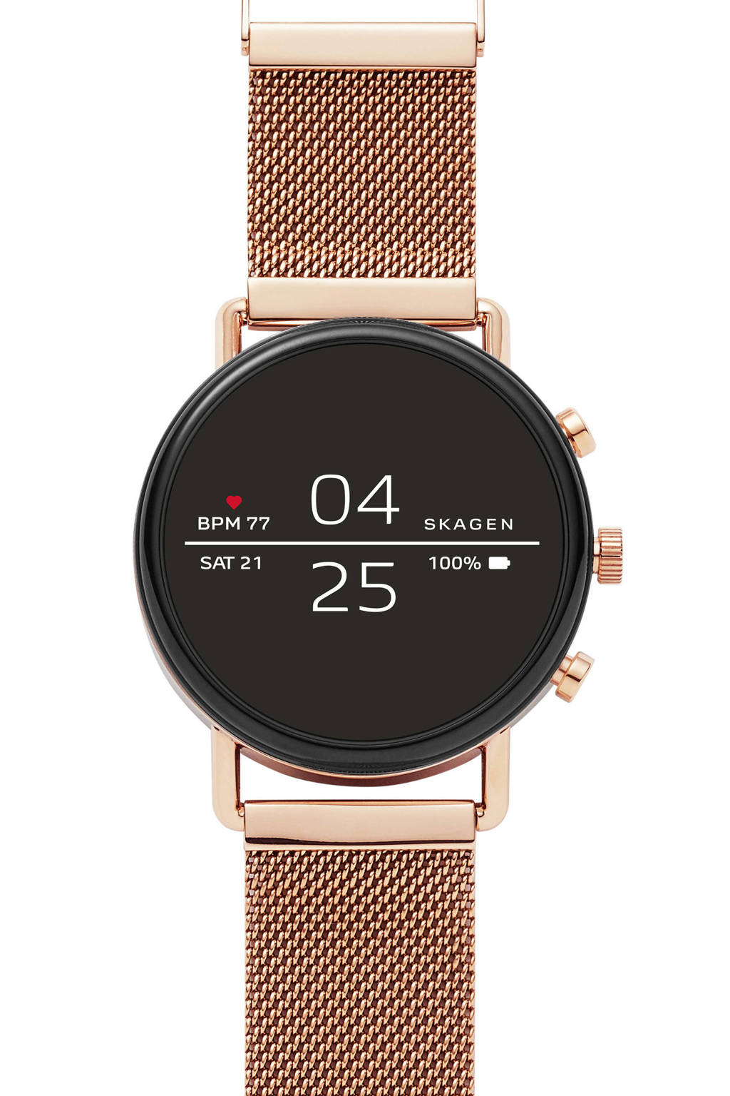 Skagen Falster Gen 4 heren display smartwatch SKT5103, Rosé goud