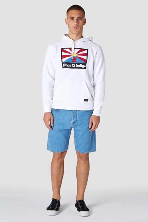 hoodie van biologisch katoen wit