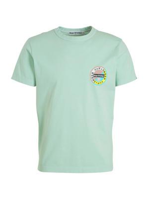 T-shirt met printopdruk lichtgroen