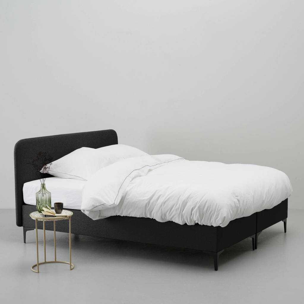 whkmp's own complete boxspring Nelson (180x200 cm), Zwart