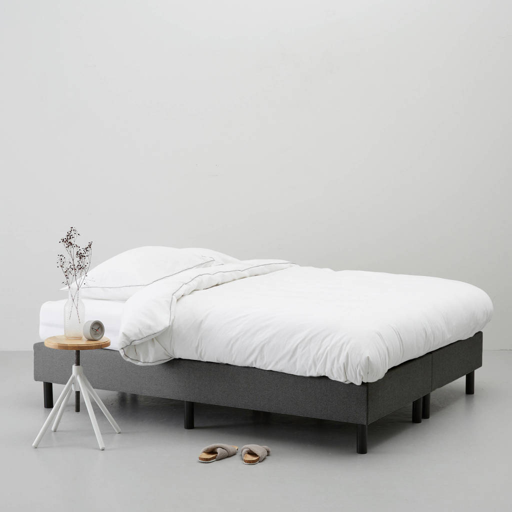 whkmp's own complete boxspring Nybo (140x200 cm), Grijs