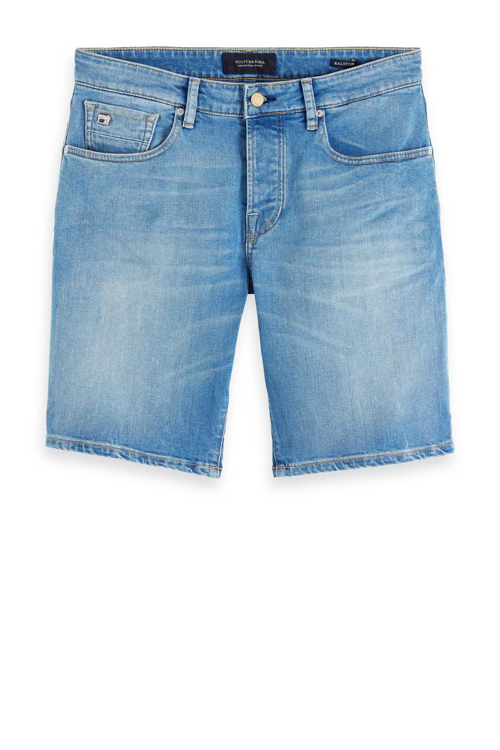 Scotch & Soda Amsterdams Blauw regular fit jeans short home grown, Home Grown