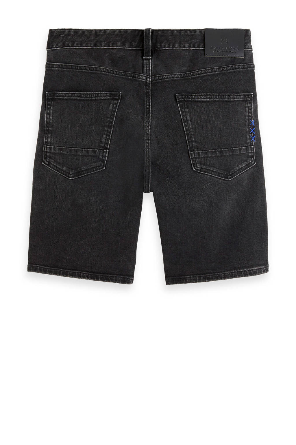 Scotch & Soda Amsterdams Blauw slim fit jeans short Ralston black out, Black Out