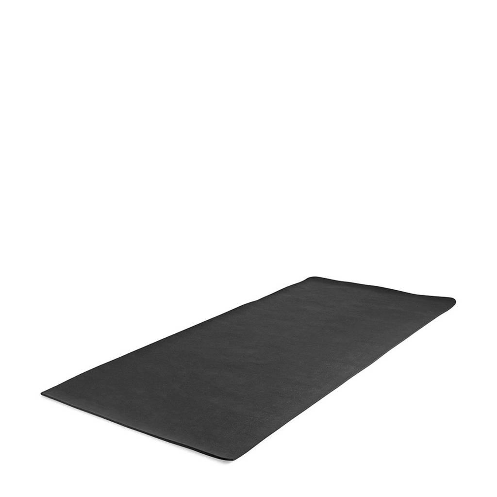 Virtufit  Universele Vloermat - Beschermmat Fitnessapparatuur 230 x 90 x 0,7 cm, Zwart