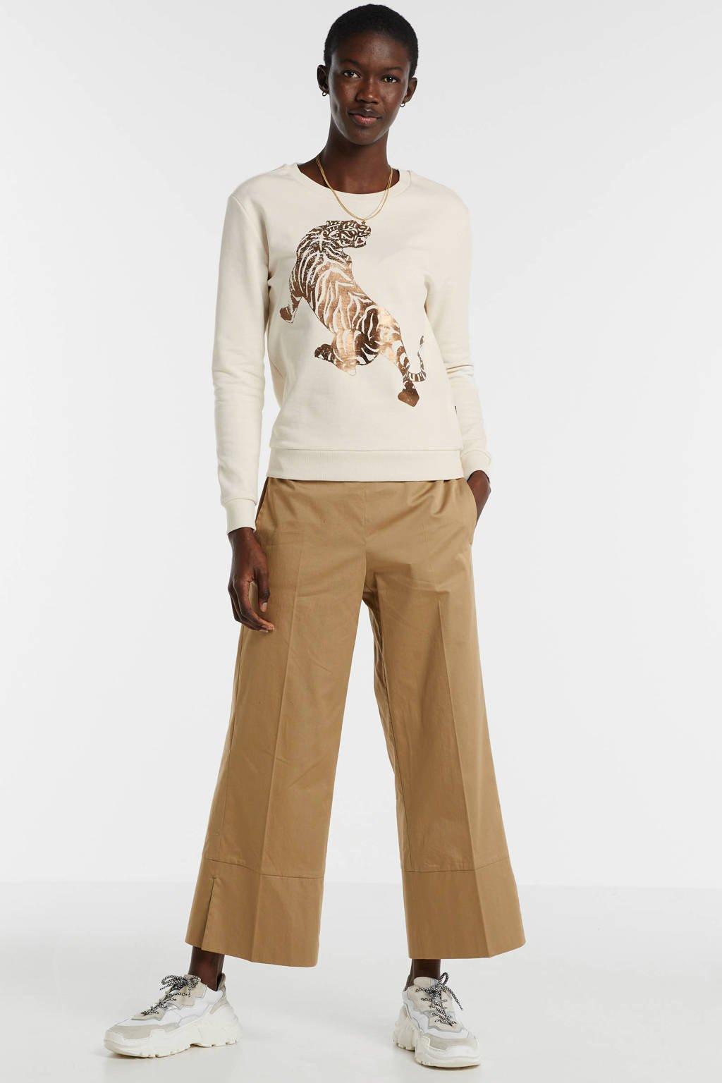 Catwalk Junkie sweater met printopdruk wit, Wit